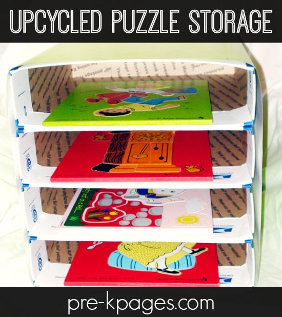 Upcycled Puzzle Storage Solution
