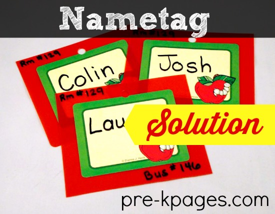 Back to School Nametag Solution