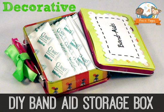 Easy Decorative Band Aid Storage Box