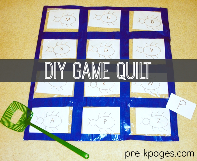 Ziploc Quilt Counting Game Preschool Kindergarten