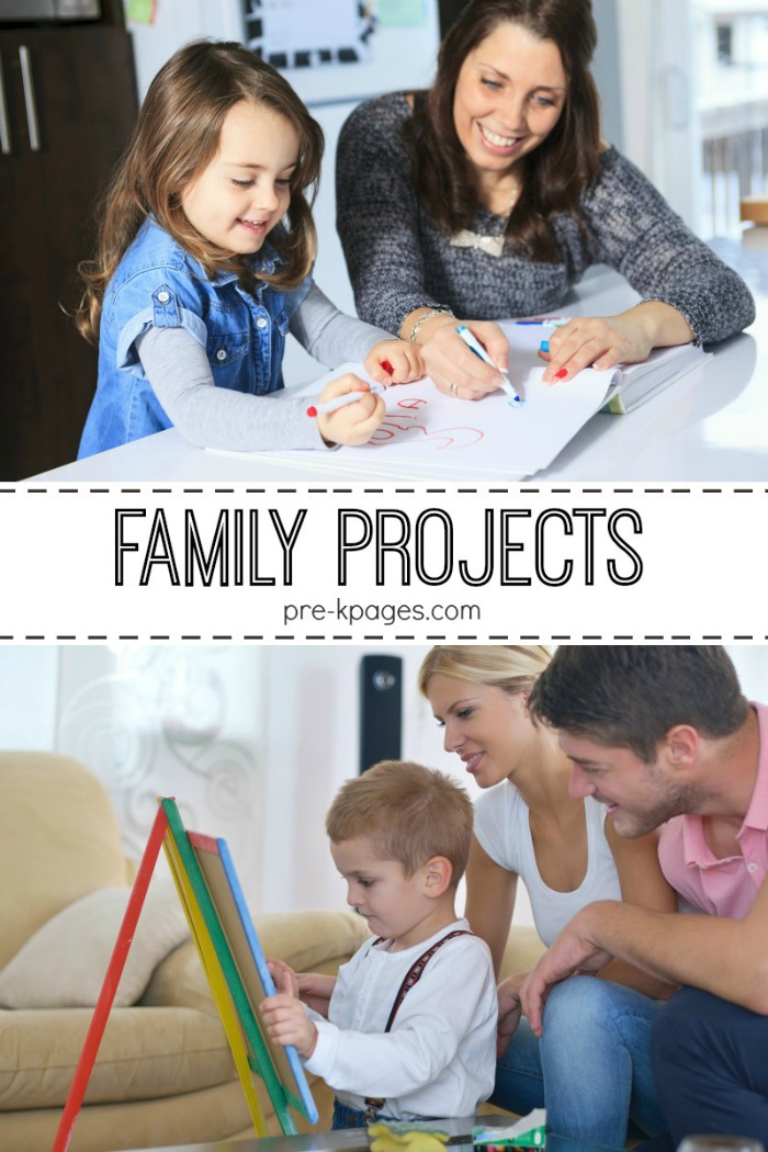 Classroom Parent Involvement Ideas ~ Printable family projects for preschool and kindergarten