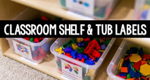 Printable Classroom Shelf and Tub Labels