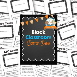 Classroom Center Signs – Black