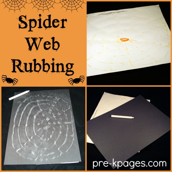 Spider Web Rubbing for Preschool