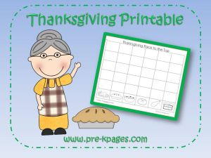 Free Thanksgiving Printable: Old Lady Who Swallowed a Pie