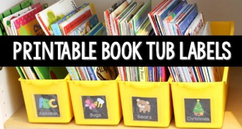 Printable Book Bin Labels for Classroom Read Alouds