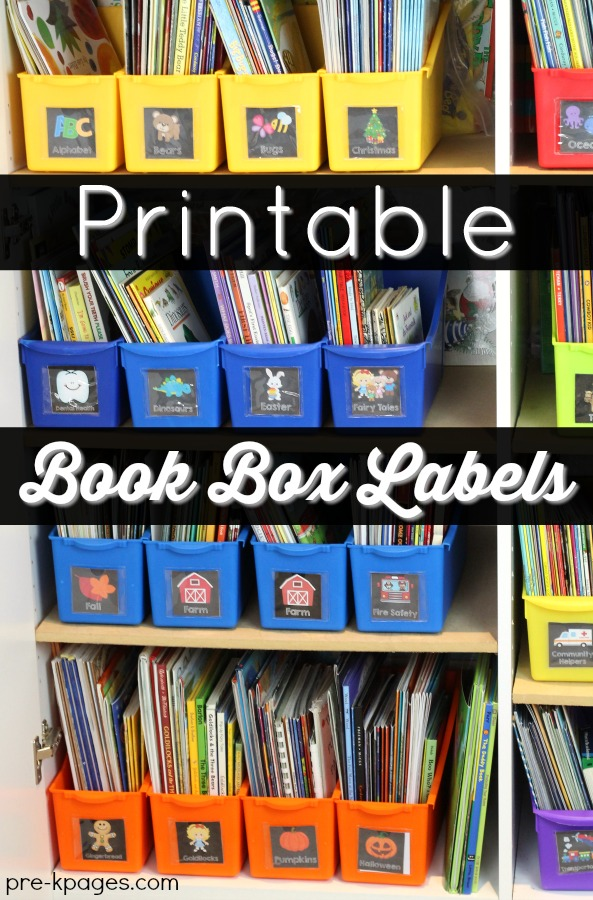 Printable Book Box Labels on Summer Themes For Preschool