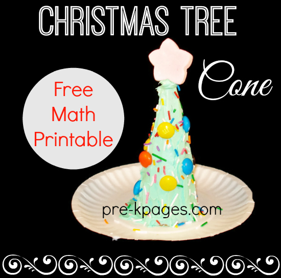 Christmas Tree Cone Activity and Math Printable