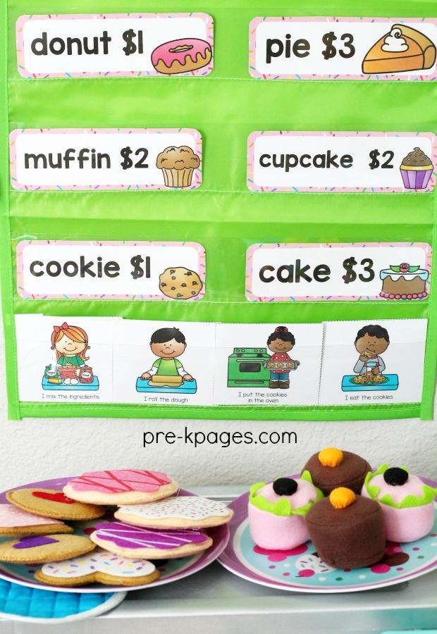 Bakery Dramatic Play Printables for Preschool