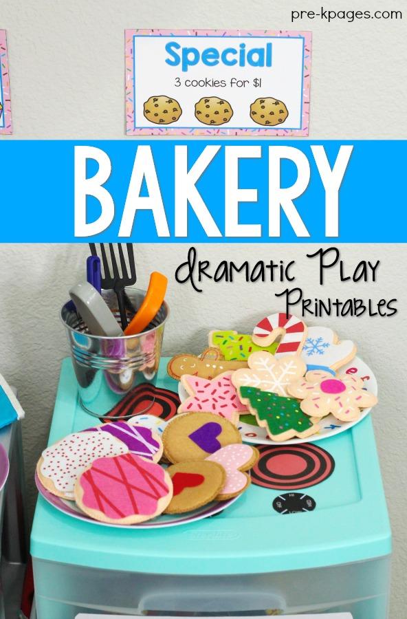 Bakery Pretend Play Printables for Preschool