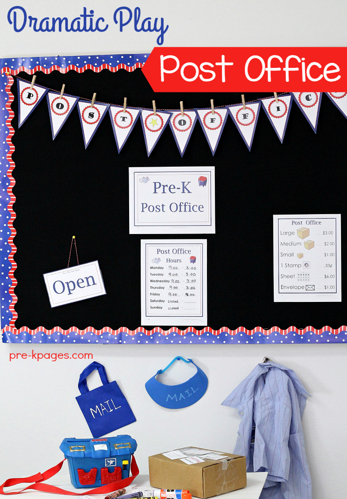 Dramatic Play Post Office Theme for Preschool