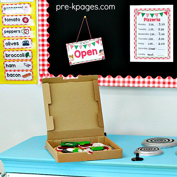Preschool Pretend Play Pizza Shop