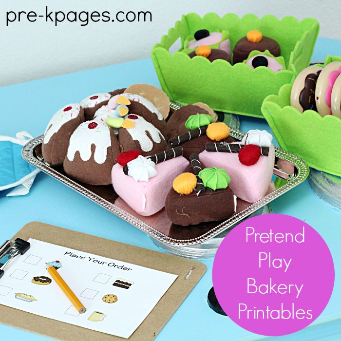 Pretend Bakery Play Printables