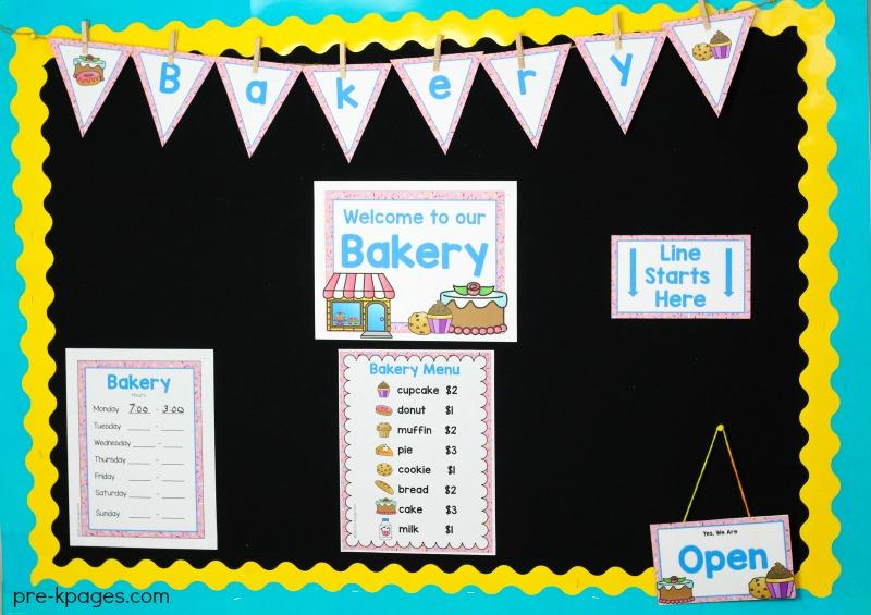 Bakery Dramatic Play Printables for Preschool and Kindergarten