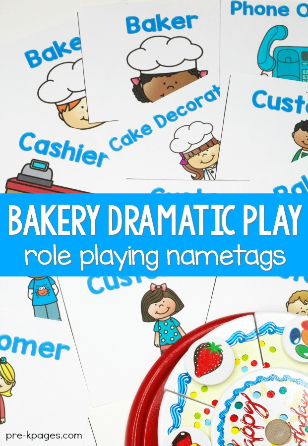 Bakery Role Playing Name Tags for dramatic play