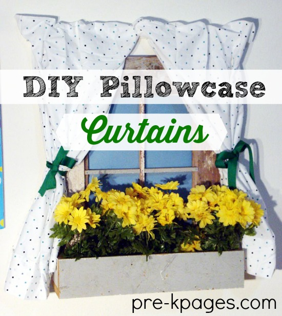DIY No Sew Pillowcase Curtains for Dramatic Play