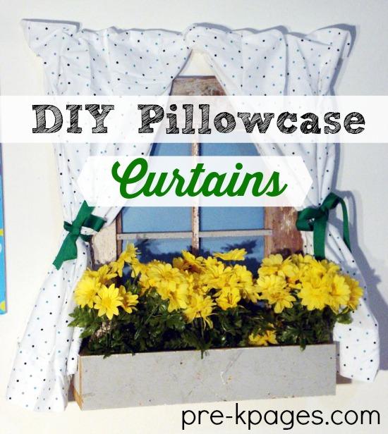 Diy Pillowcase Curtains: DIY Dramatic Play Pillowcase Curtains,