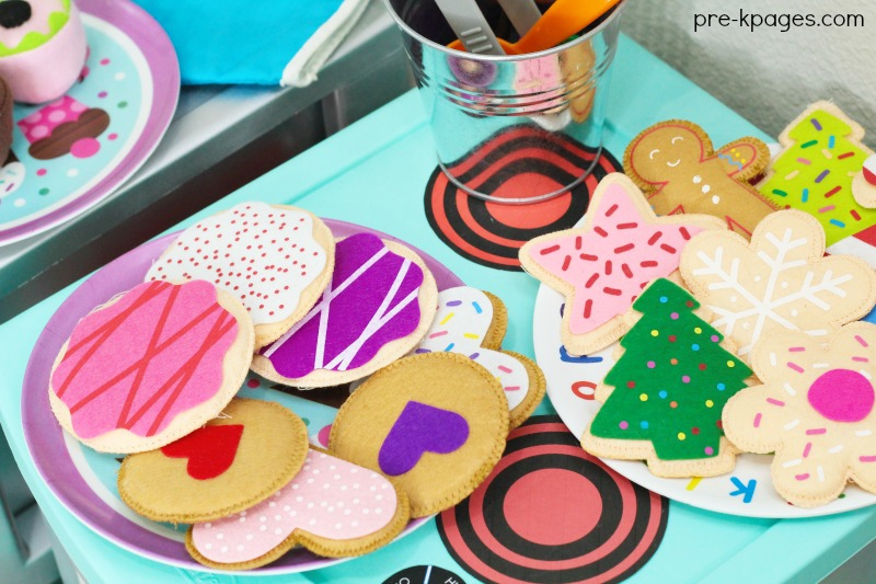 Felt Cookies for Bakery Dramatic Play
