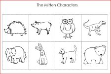 The Mitten Characters Printable