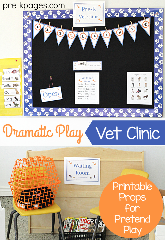 Pretend Play Printables for Vet Clinic