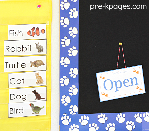 Printable Pet Vocabulary Cards