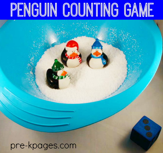 Fun Penguin Counting Game for Preschool and Kindergarten.