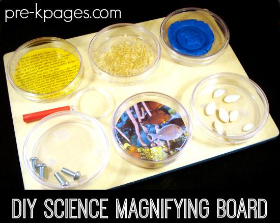 DIY Science Magnifying Board