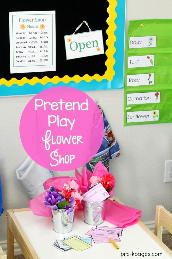 Dramatic Play Flower Shop Printables for Preschool