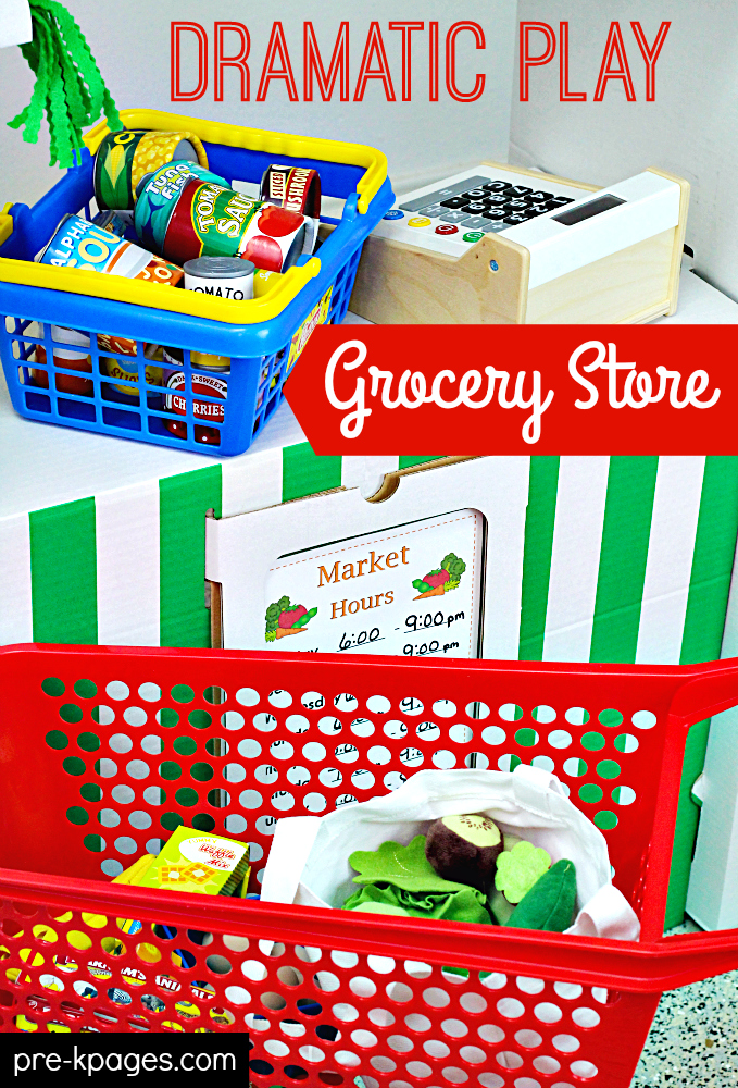 Pretend Play Grocery Store Printable Packet