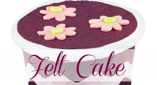 Easy No-Sew Felt Cake