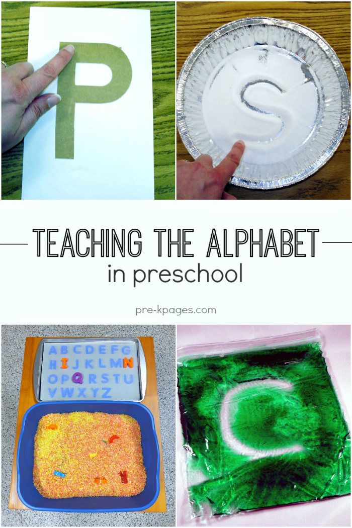 alphabet and letter learning activities for preschool and kindergarten