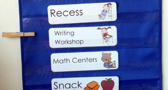 Picture Schedule for Preschool