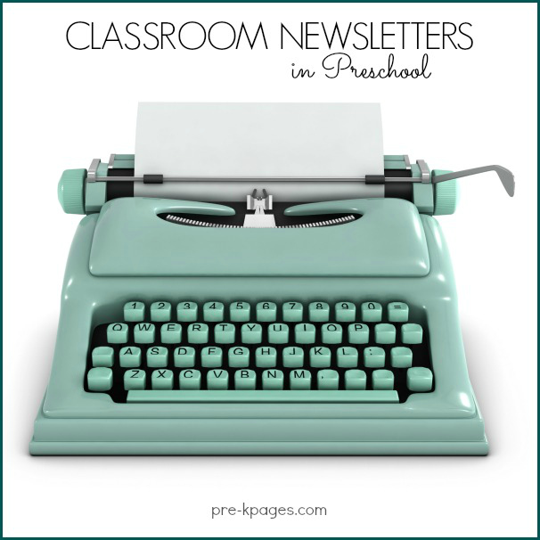 Printable and Editable Classroom Newsletters for Preschool and Kindergarten