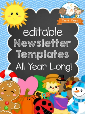 Printable classroom newsletters for preschool and kindergarten for Childcare newsletter templates