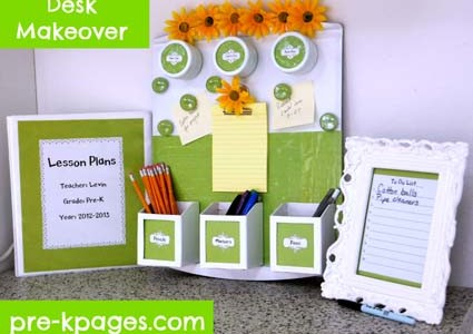 Teacher Desk Makeover