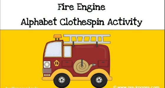Fire Safety Letter Matching and Fine Motor Activity