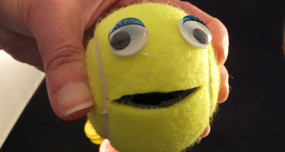 Fine Motor Tennis Ball Math Game
