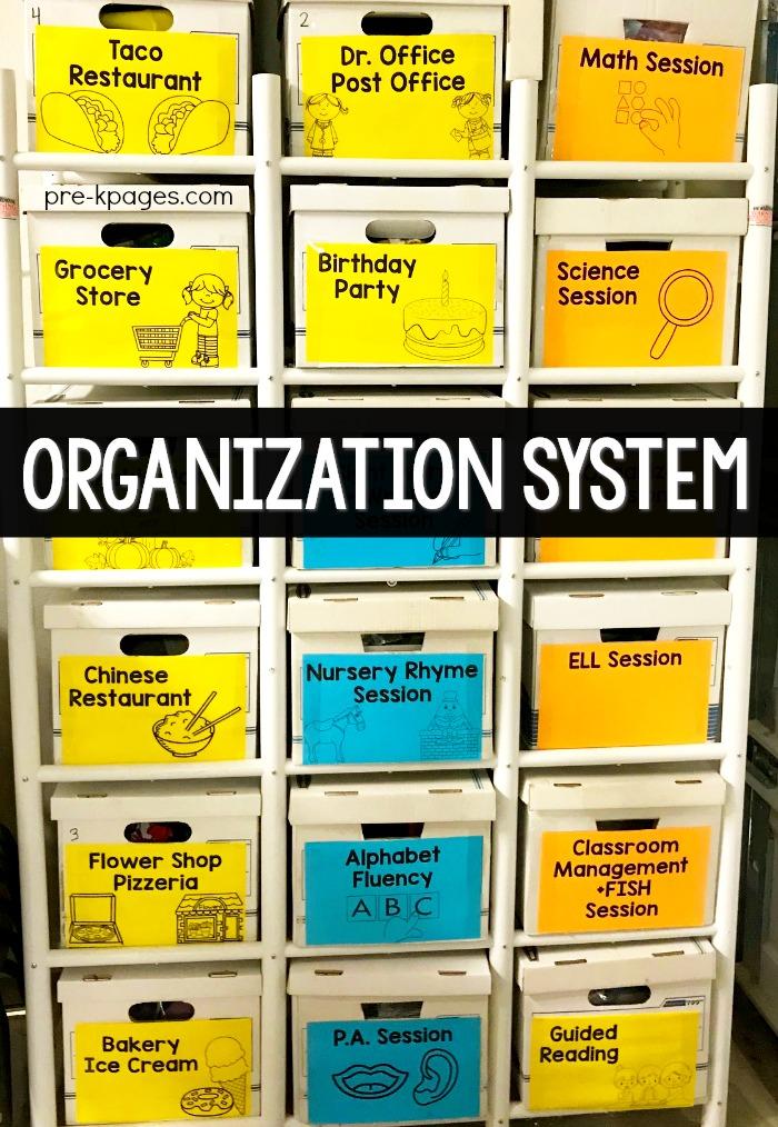 Theme Tub Organization System for Preschoo