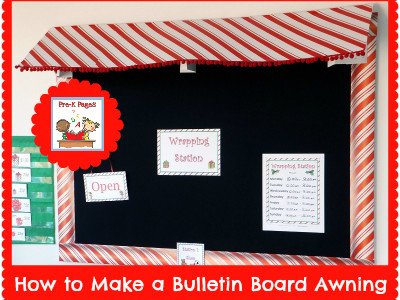 How to Make a Bulletin Board Awning {DIY}