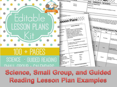 Electronic Printable Lesson Plan Templates for Teachers of Preschool and Kindergarten