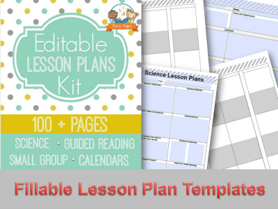 Editable Lesson Plan Templates for Preschool and Kindergarten Teachers