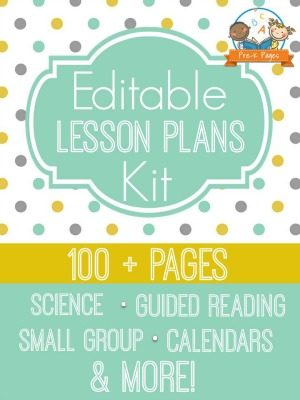 Deluxe Electronic Lesson Plans for Preschool and Pre-K