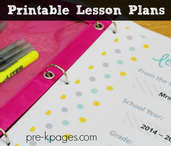 Printable Lesson Plans For Preschool Pre K And Kindergarten