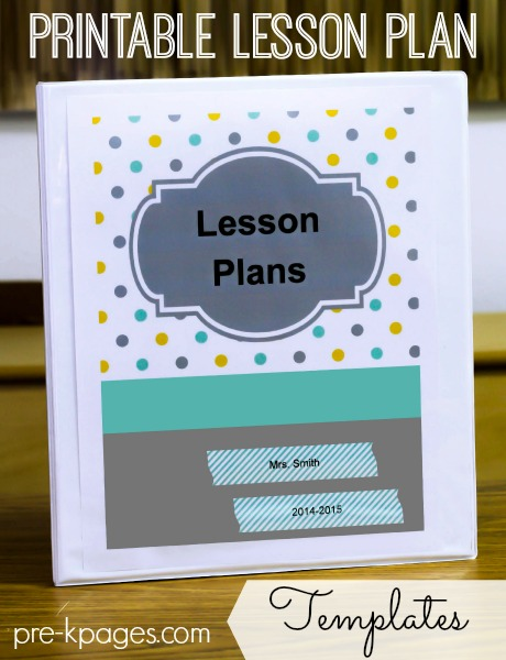 Printable Lesson Plan Templates for Preschool and Kindergarten