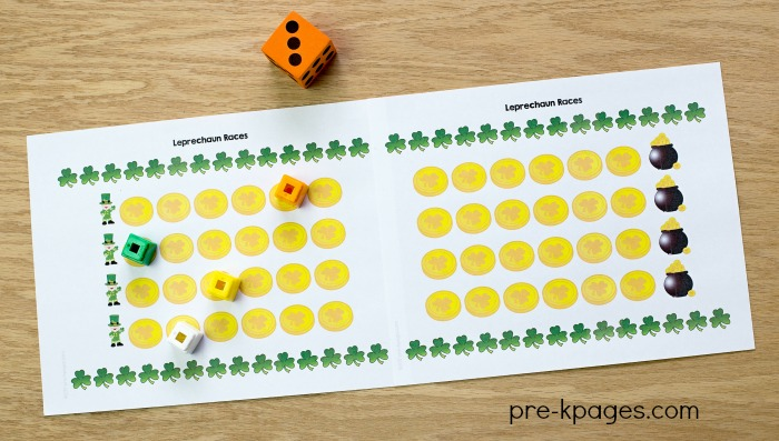 Printable St Patricks Day Counting Game