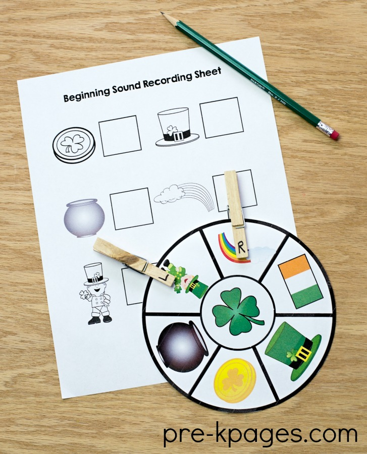 St Patricks Day Beginning Sound Activity