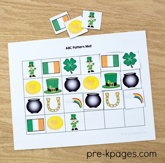 St Patricks Day Patterning Activity