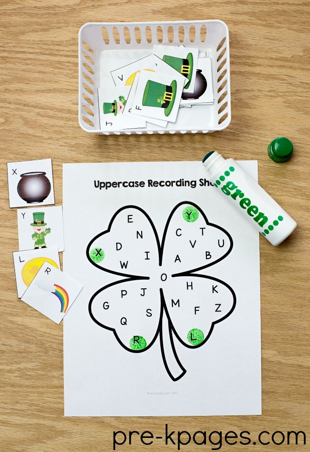 St Patricks Day Printable Alphabet Game