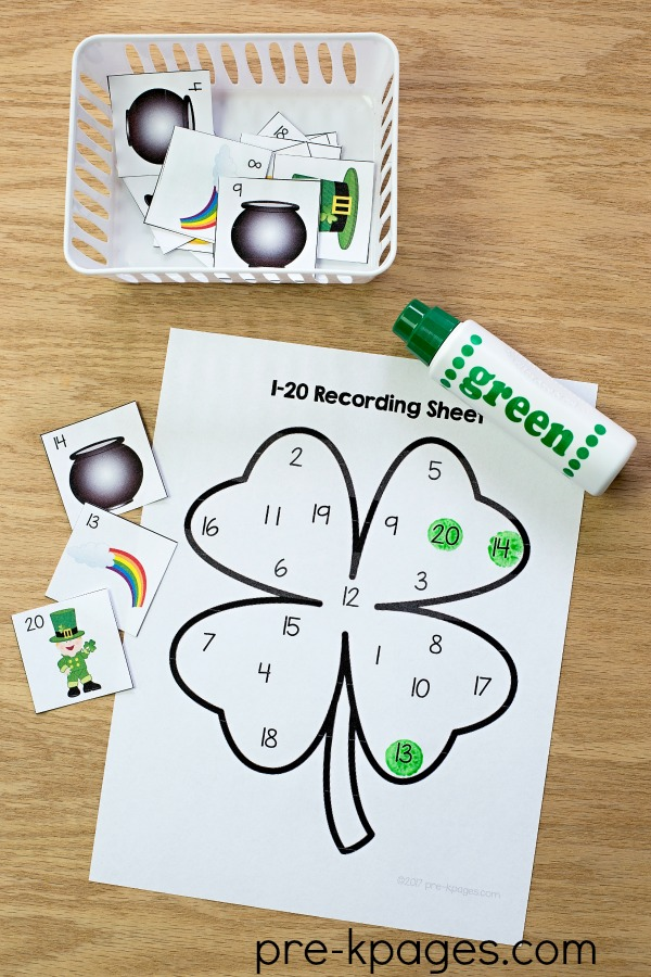 St Patricks Day Printable Number Game