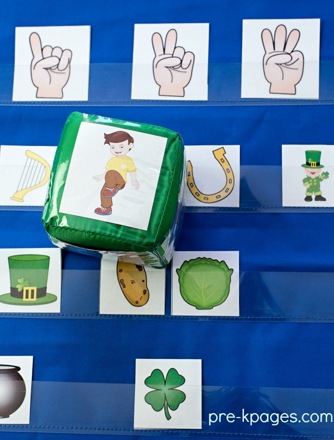 St Patricks Day Printable Syllable Game